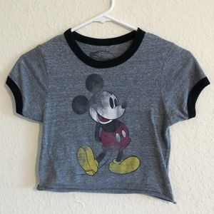 Urban Outfitters X Mickey Mouse Crop Top